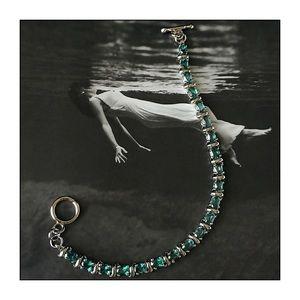 Sterling Silver Lab Created Alexandrite Bracelet